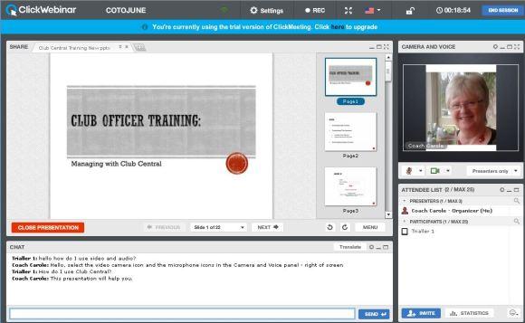 carole as avatar in clickmeeting