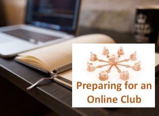 preparing for an online club header