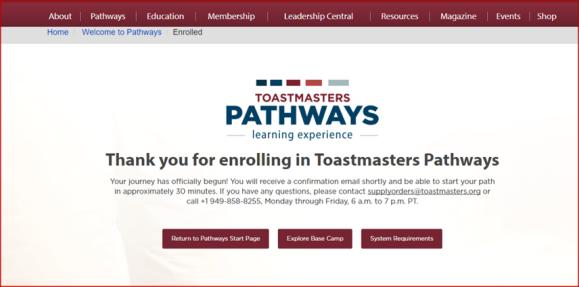 enrolment confirmation pathways