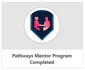 Pathways Mentor Program Completed badge