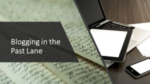 Blogging in the Past Lane course banner